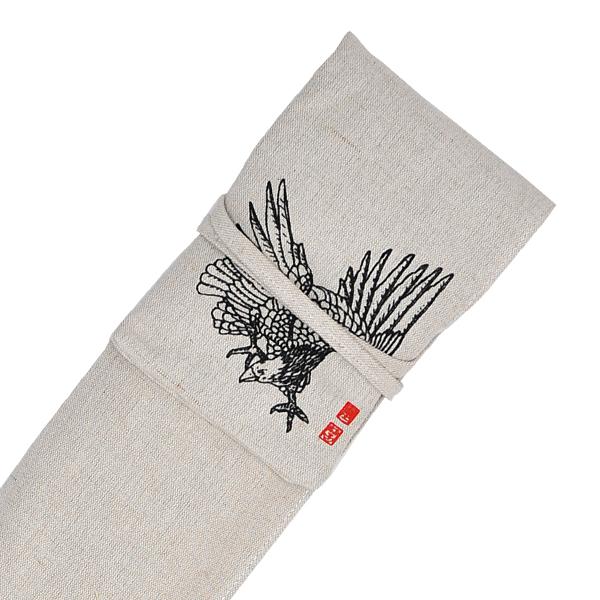 ソフトキャンバス鷹絵入略式3本入竹刀袋