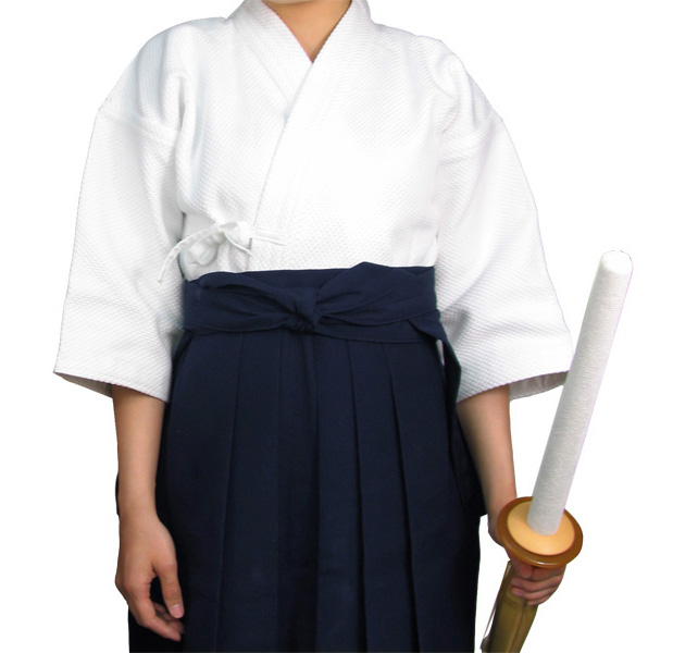 白一重剣道着+特製ポリエステル剣道袴セット