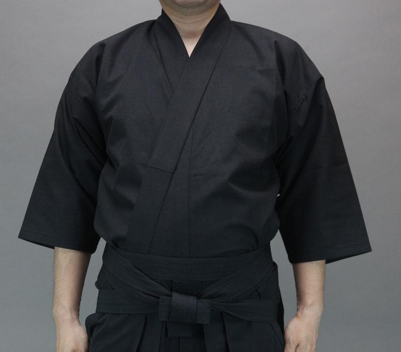 徳用おくみ付居合道衣・袴セット※上衣黒2号・4号完売