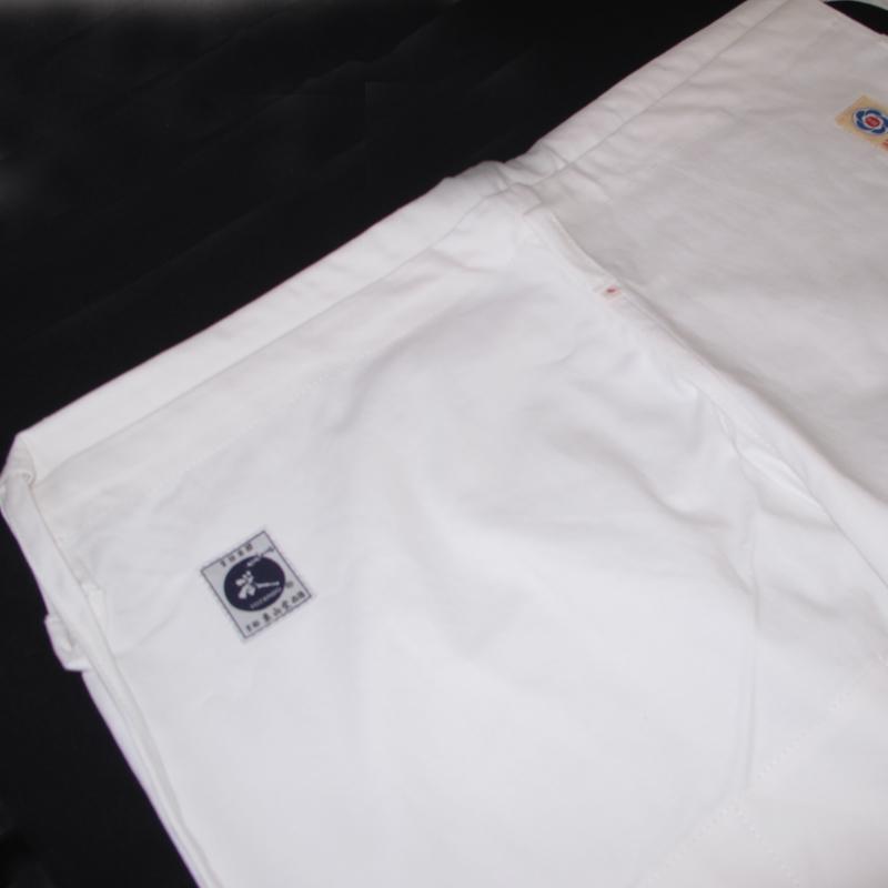 【在庫限り】高級晒二重合気道衣上下セット(伝統型)