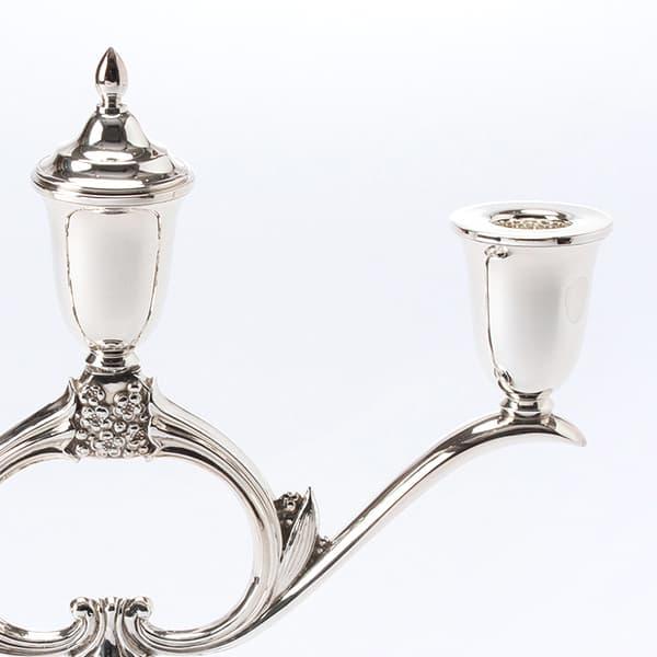 銀製三灯燭台