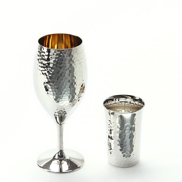 銀製洋酒器 奥山峰石作