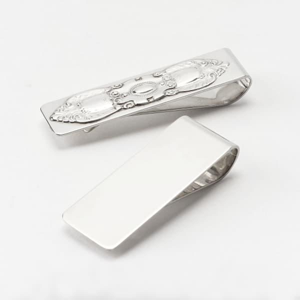 銀製マネークリップ