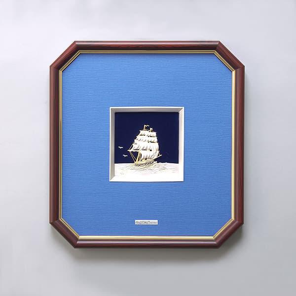 レリーフ額 帆船