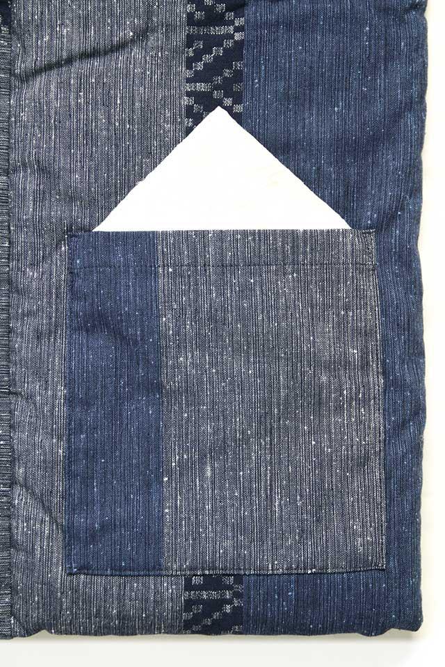 半袖半纏 [絣調ドビーやっこ] Sサイズ 全4色