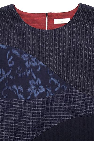 ブラウス [彩藍 文人しじら] 全2色 綿100%