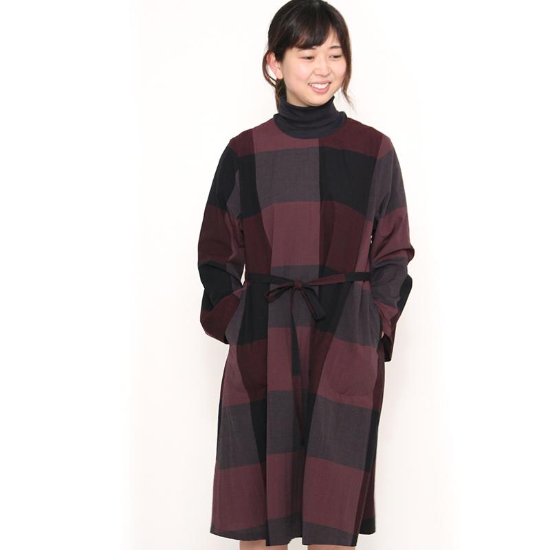 ワンピース [らしか mukudori] 全2色 綿100%