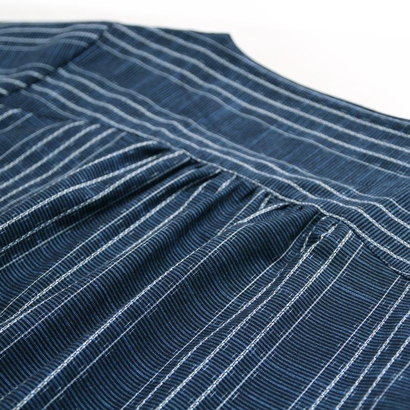 ブラウス [彩藍 水葵チュニック] ブルー 綿100%
