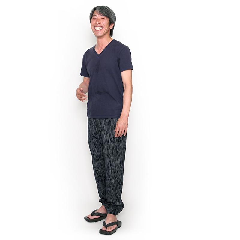 パンツ [しじら] 全3色 M/L 夏向け 綿100% もんぺ型 男女兼用 ※2021年リニューアル