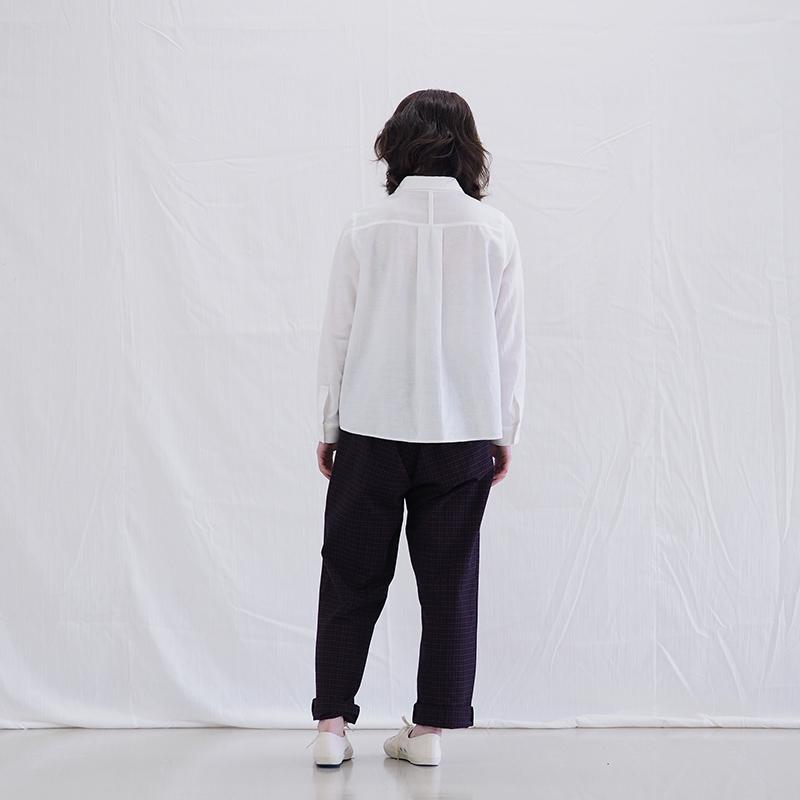 イージーパンツ [natume 棗] ネイビー M/L 綿100% 男女兼用