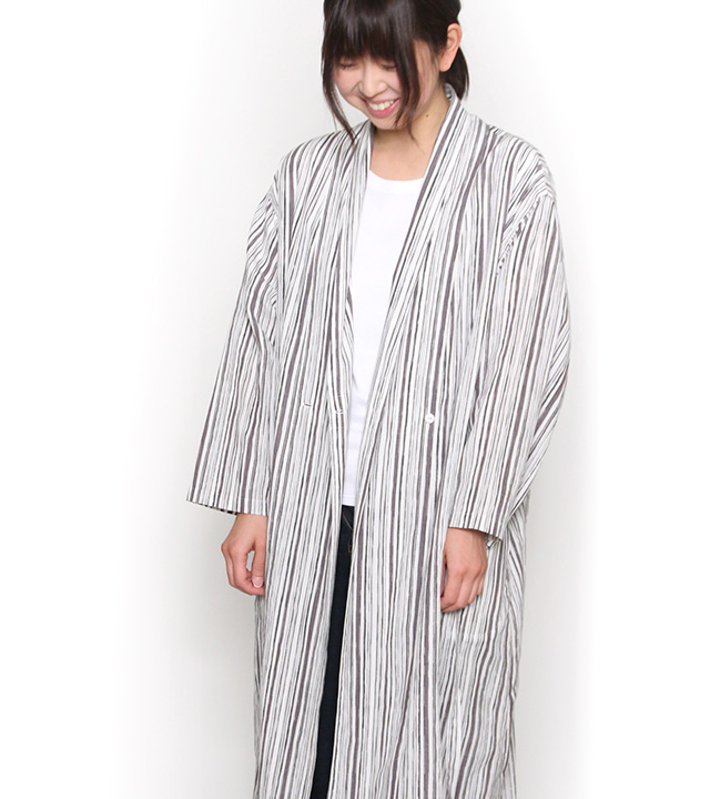 ロングジャケット [らしか uneune] 全3色 綿100%