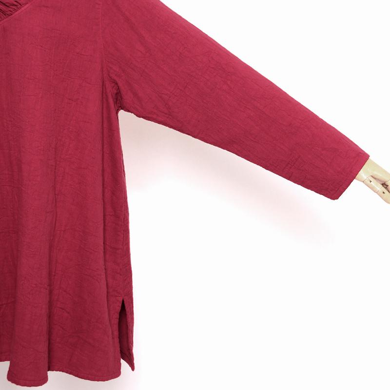 五感 トリプルガーゼ [プルオーバー チュニック丈] 全3色 綿100% M~LLサイズ 長袖