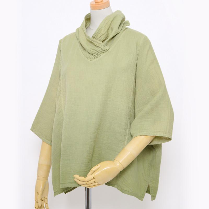 五感 プルオーバー [ダブルガーゼ] 全2色 綿100% 7分袖