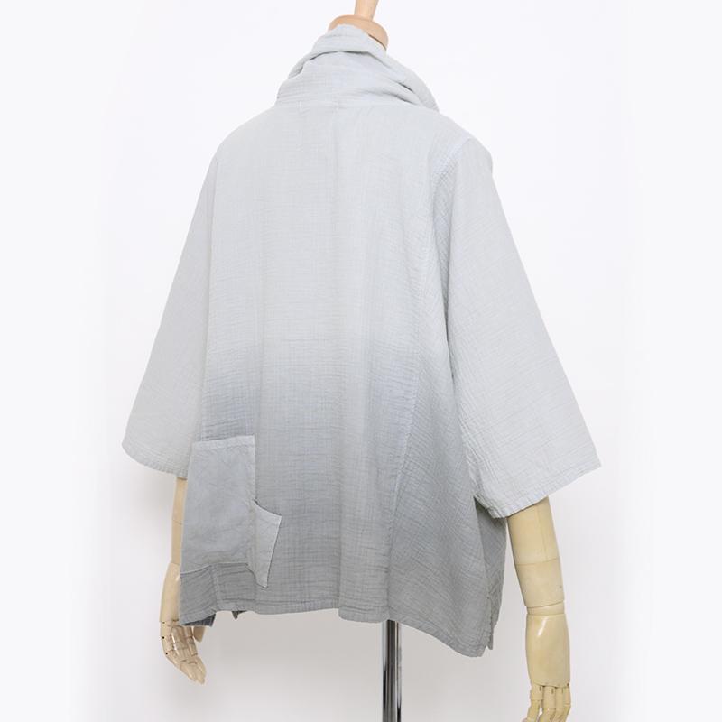 五感 ダブルガーゼ [プルオーバー] 全2色 綿100% M~Lサイズ 7分袖 グラデーション染め