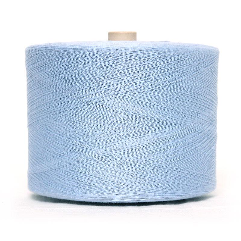 織り糸 [和木綿 水色(ライトブルー)] 太巻 約900g程度 40/2
