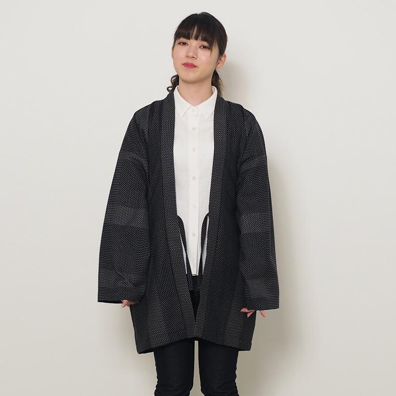 haori [miyakodori wide] ブラック ワイドサイズ 春秋冬向け 綿100% ※一番大きいサイズ