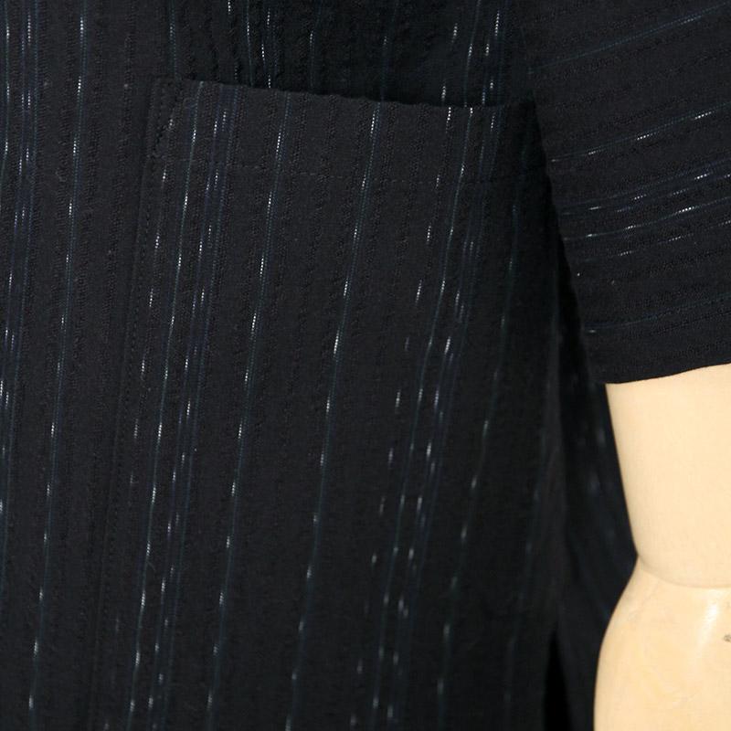 甚平 [氷雨] 黒 夏用 綿100% M/L/LL
