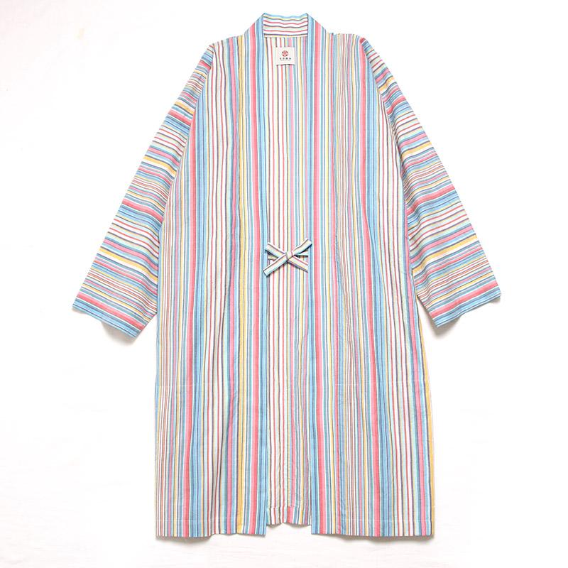 haori [hareruya long] マルチカラー ロング丈 春夏向け 綿100%