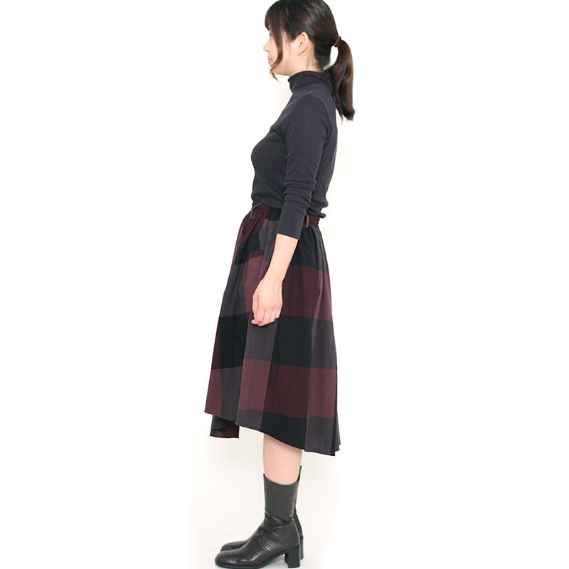 スカート [らしか mukudori] 全2色 綿100%