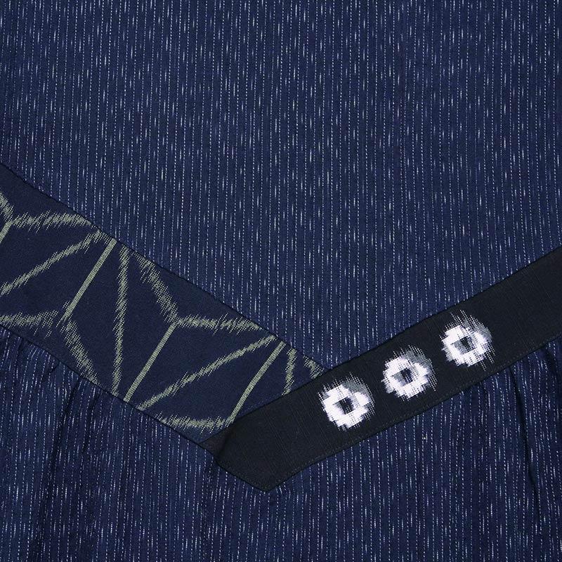 ワンピース [彩藍 文人しじら] ブルー 綿100%