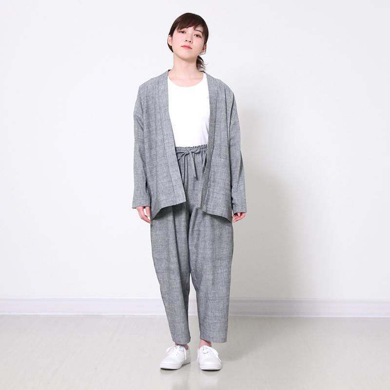 パンツ [花桐 hanagiri 9分丈] 全3色 綿100% ※男女兼用