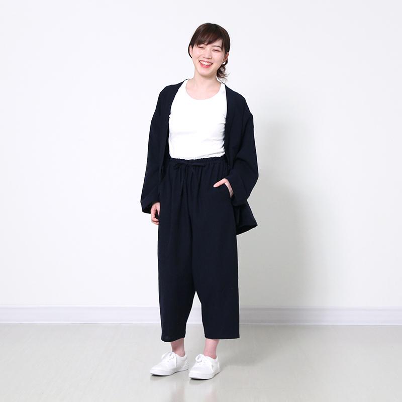 パンツ [花桐 hanagiri 7分丈] 全3色 綿100% ※男女兼用