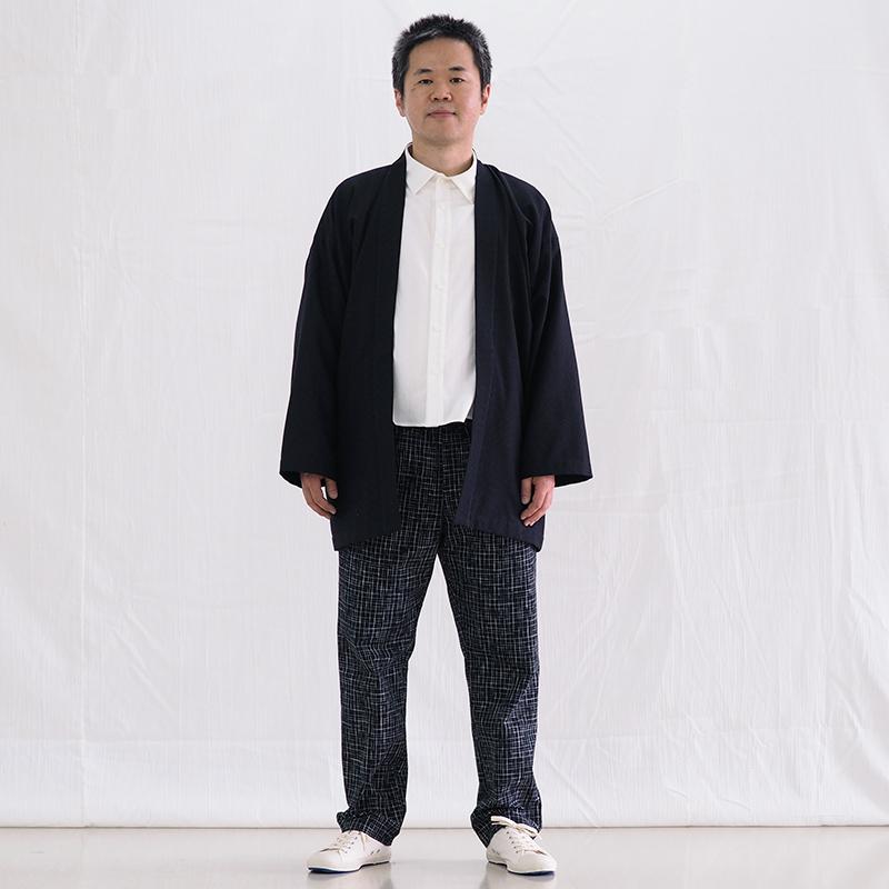 【再入荷】haori [natuhibosi wide] ブラック ワイドサイズ 春夏秋向け 綿100% ※一番大きいサイズ