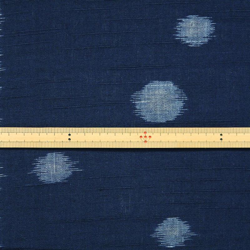 久留米絣反物 [水玉/ネイビー] 1メートル単位 切り売り【SK0035】