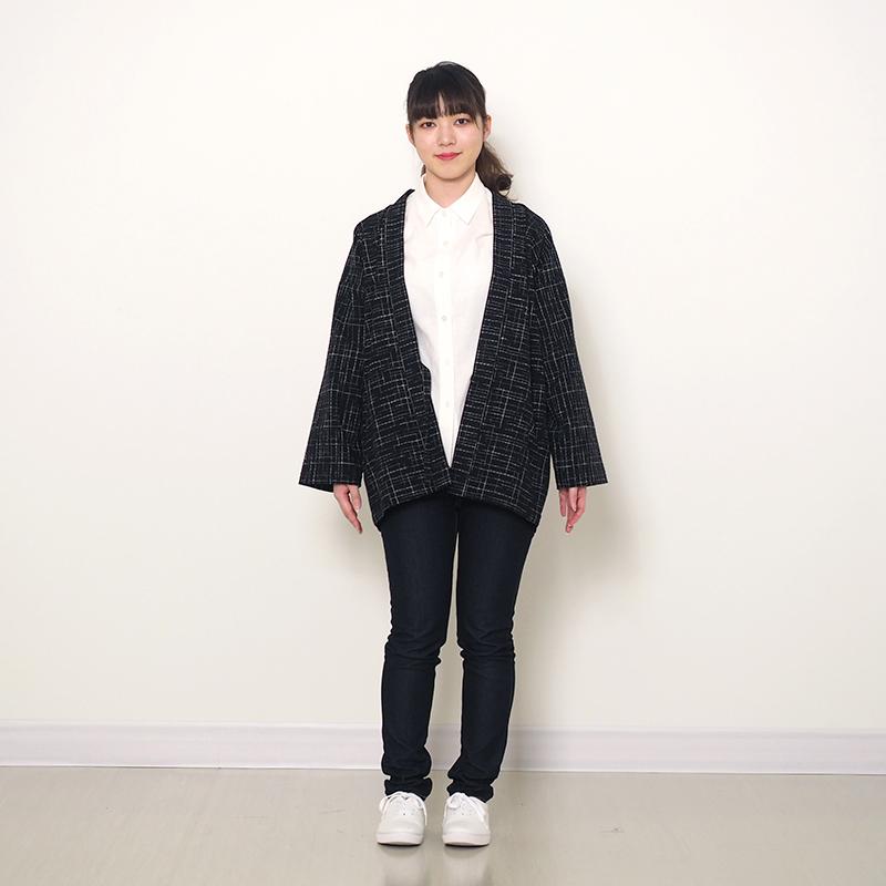 haori [kasumiami] ブラック 春夏秋向け 綿100% ※new size