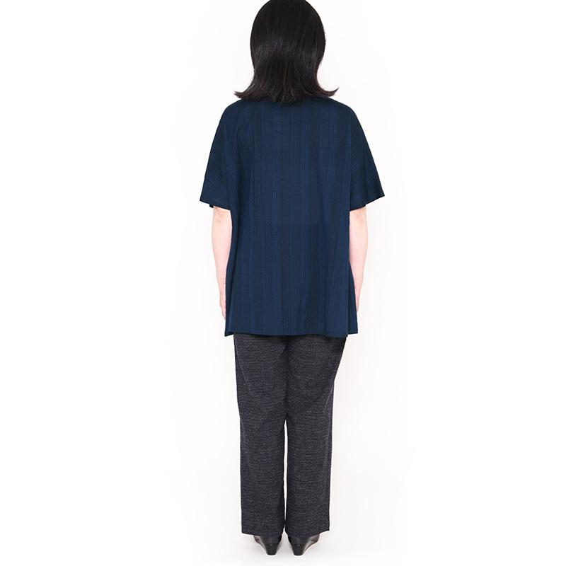 チュニック [彩藍 夜光タック] 全4色 綿100%