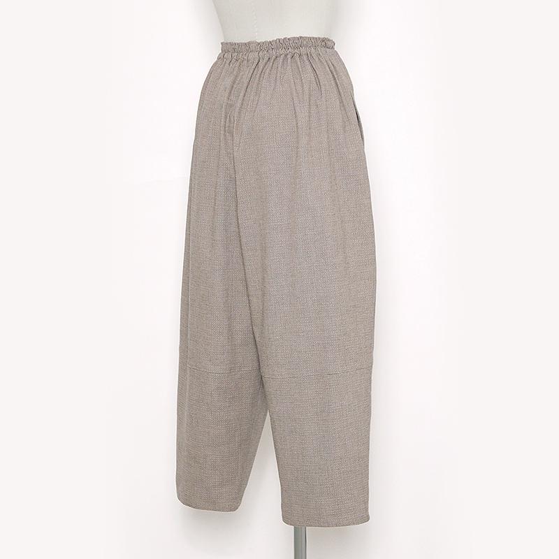 パンツ [珊瑚 sango ストレッチ 7分丈] ベージュ 綿98%・ポリウレタン2% ※男女兼用