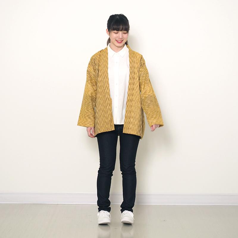 haori [nami] ネイビー/グリーン/イエロー 春夏秋向け 綿100% ※new size