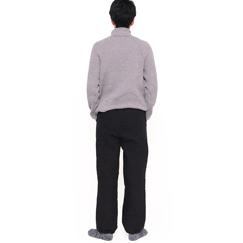 キルトパンツ [ ことん 蔓豆 ] 黒のみ 冬向け M・L もんぺ型 男女兼用 ※再入荷(裏地の色変更)
