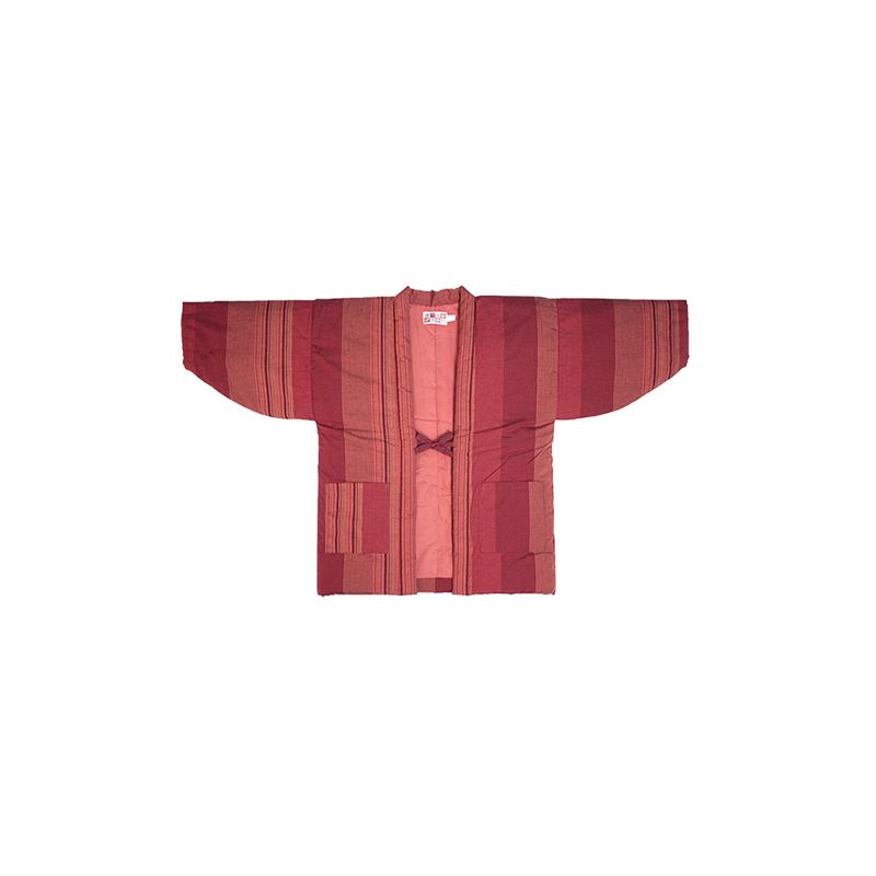 半纏 [60双糸 縞袢天] 全8色 ※エンジ・レンガ完売