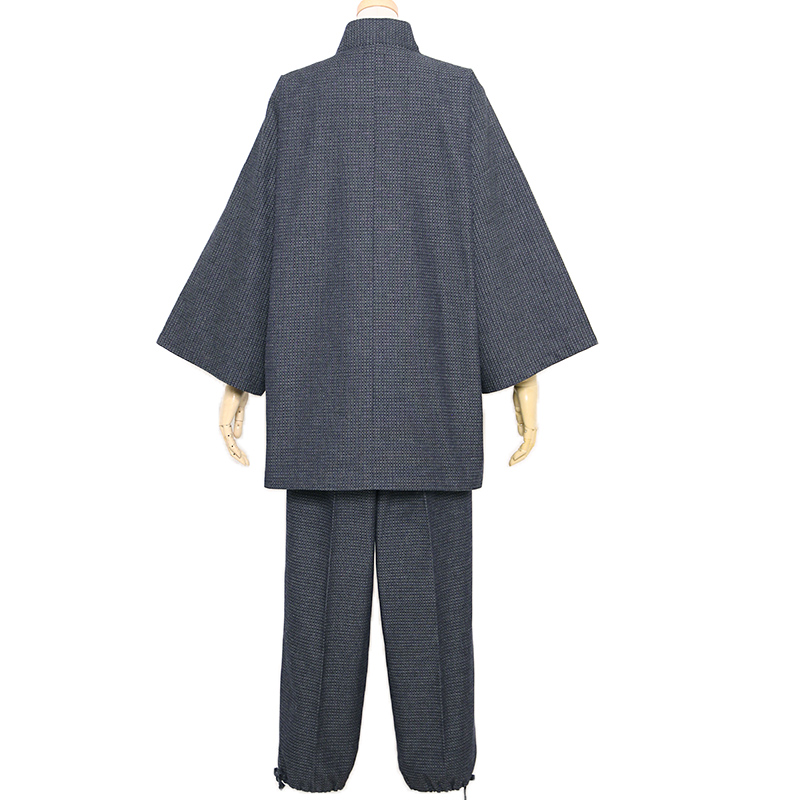 作務衣 [亀甲] 全2色 秋~春用 綿100%  M/L/LL [TV] TBSテレビ「4分間のマリーゴールド」着用