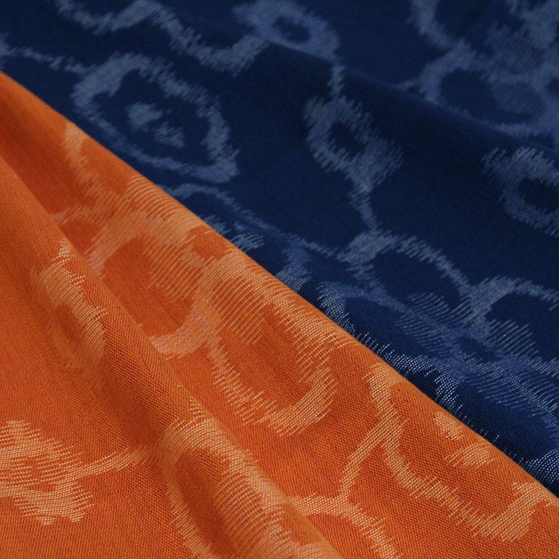 久留米絣ストール [彩藍 梅] 全2色 綿100%