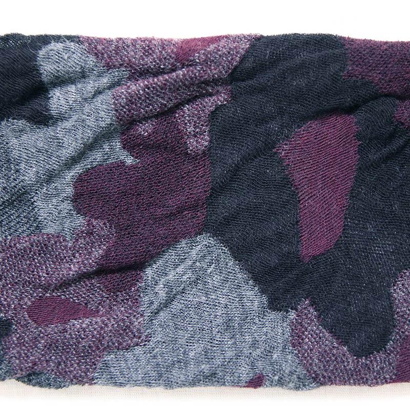五感 アームカバー [コットンジャガード織 花柄] グレー 綿100%