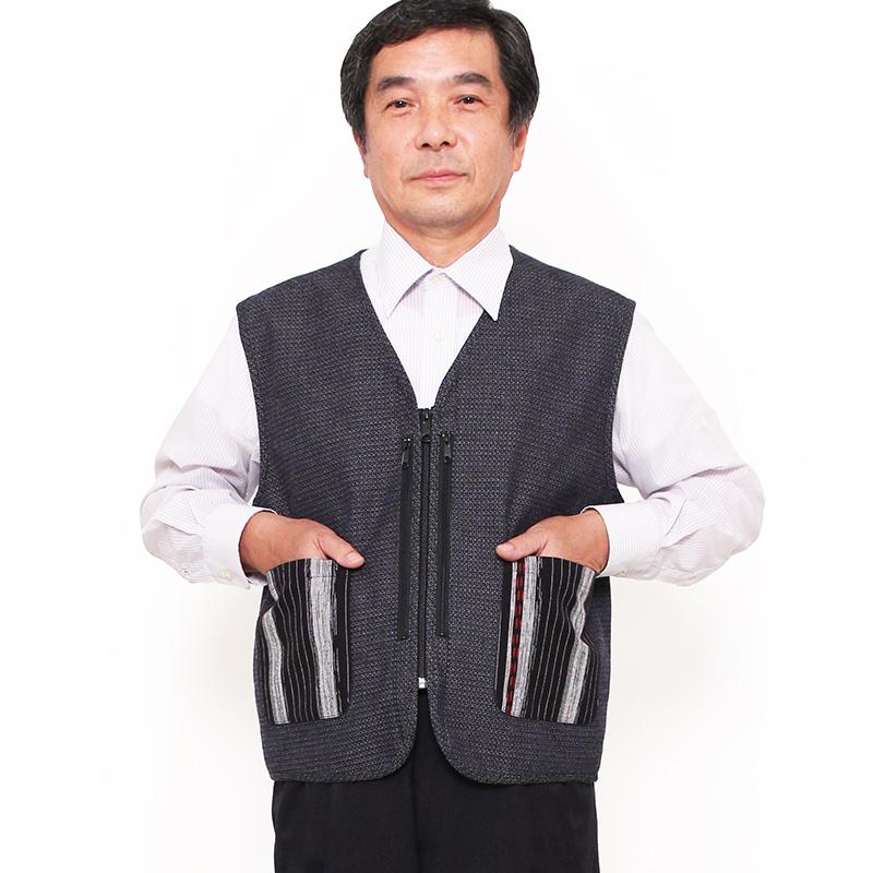 紳士ベスト [新亀甲] 全2色 綿100% ネット・直営店限定