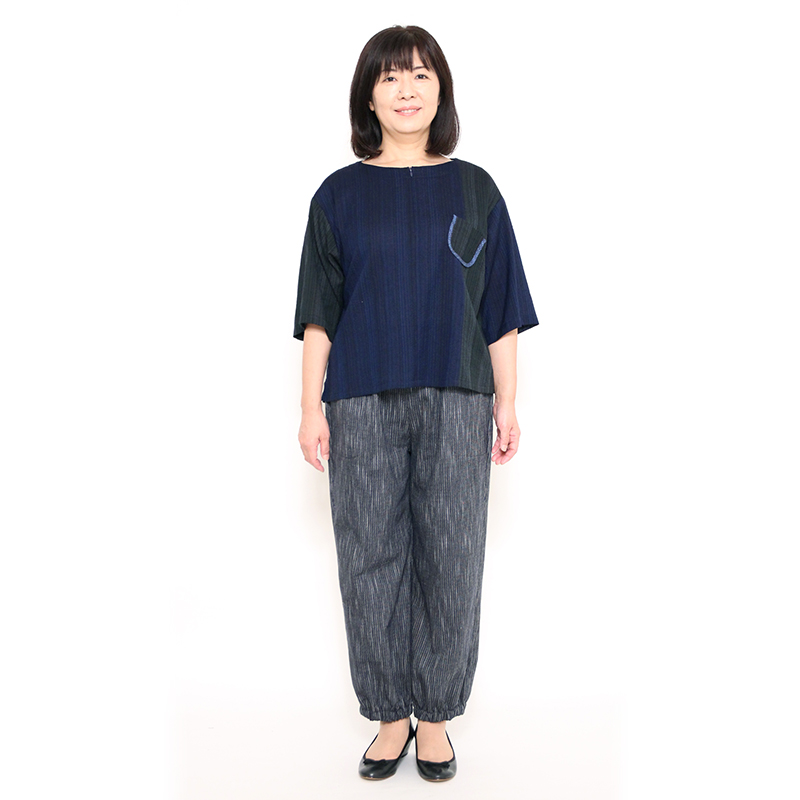 【新作】パンツ [彩藍 小暮もんぺ] 全2色 綿100% 秋~春向け ※両サイドポケット仕様