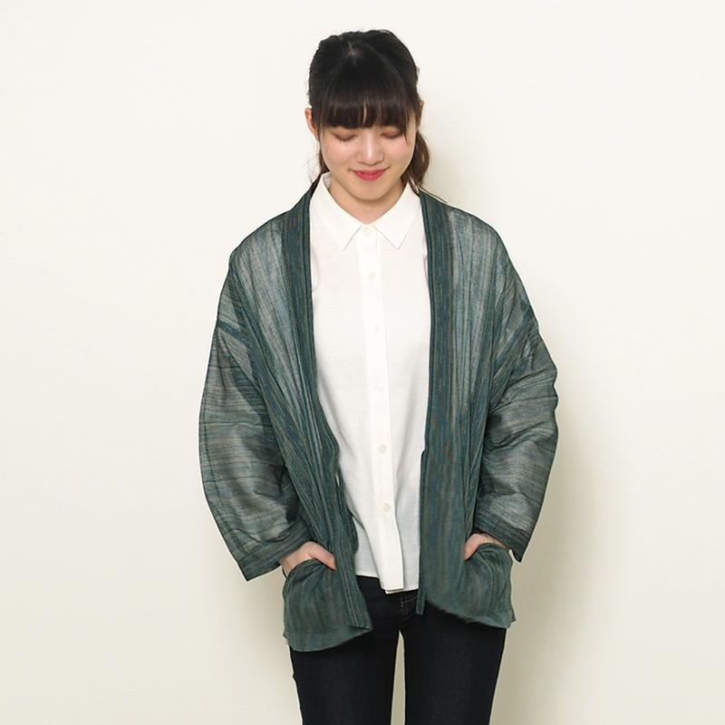 haori [kyokko] グリーン/ブルー 春夏秋向け 綿100% ※new size