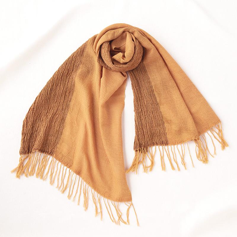 工房織座 [ウール混 かさね色ちぢみショールN] 全5色 綿55%・ウール45%