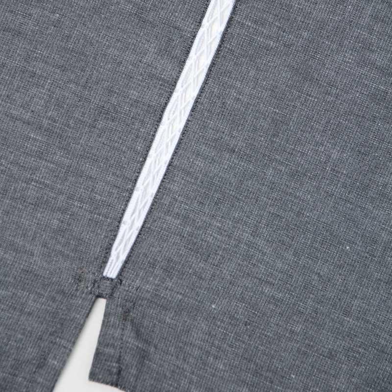 甚平 [ちぢみ織り] グレー 夏用 綿100% 無地 S/M/L/LL/3L