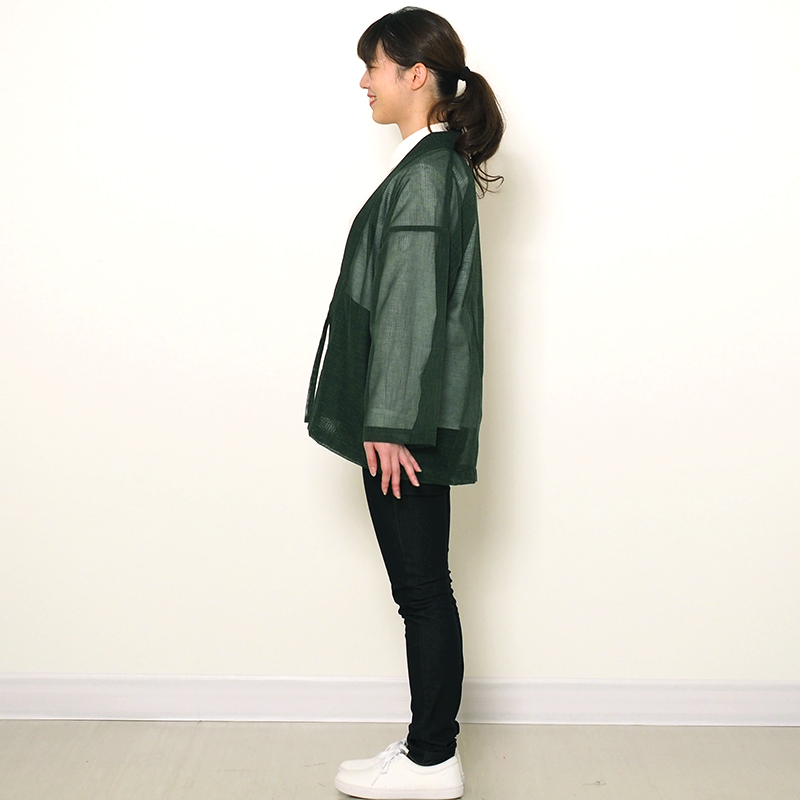 haori [karami] グリーン 春夏秋向け 綿100% ※new size