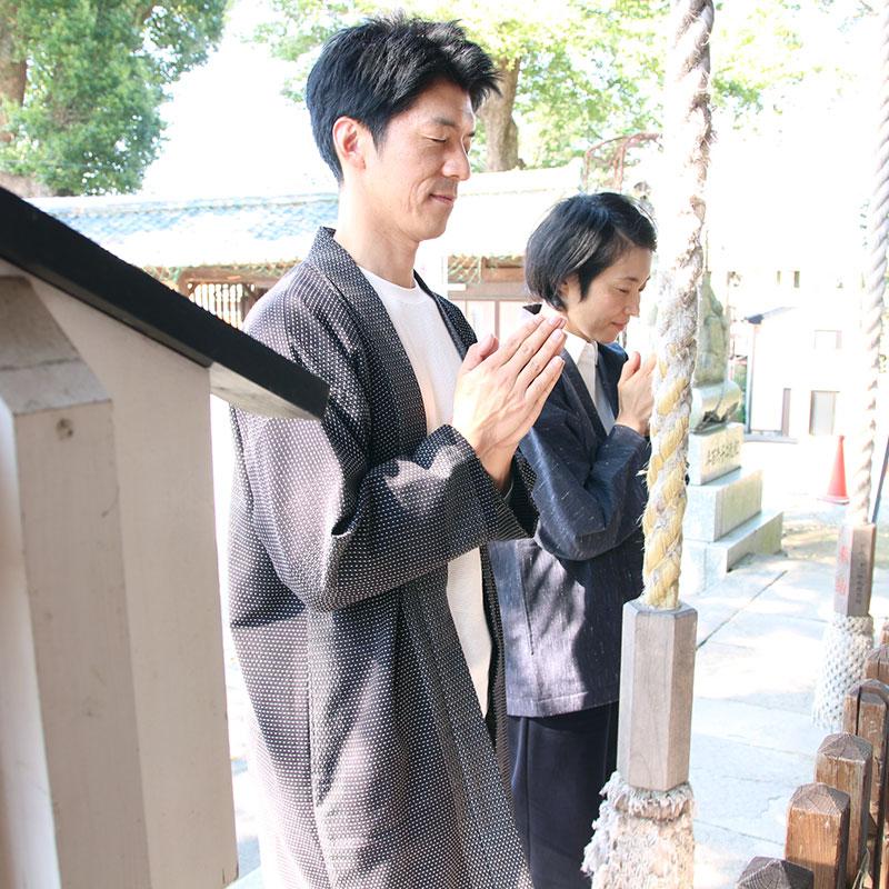 haori [miyakodori long] 全2色 ロング丈 春秋冬向け 綿100%