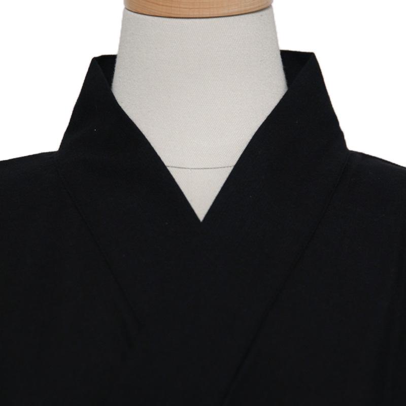 甚平 [ちぢみ織り] 黒 夏用 綿100% 無地 S/M/L/LL/3L