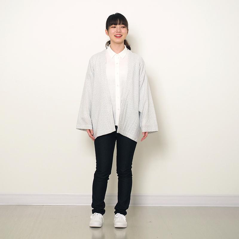 haori [kagasurisijira] ネイビー/ホワイト 春夏秋向け 綿100% ※new size