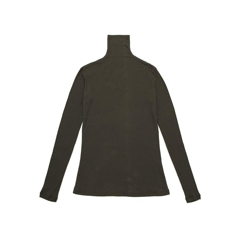 五感 ハイネック [コットンシルクソフトガーゼ] 全4色 綿90% シルク10% 長袖