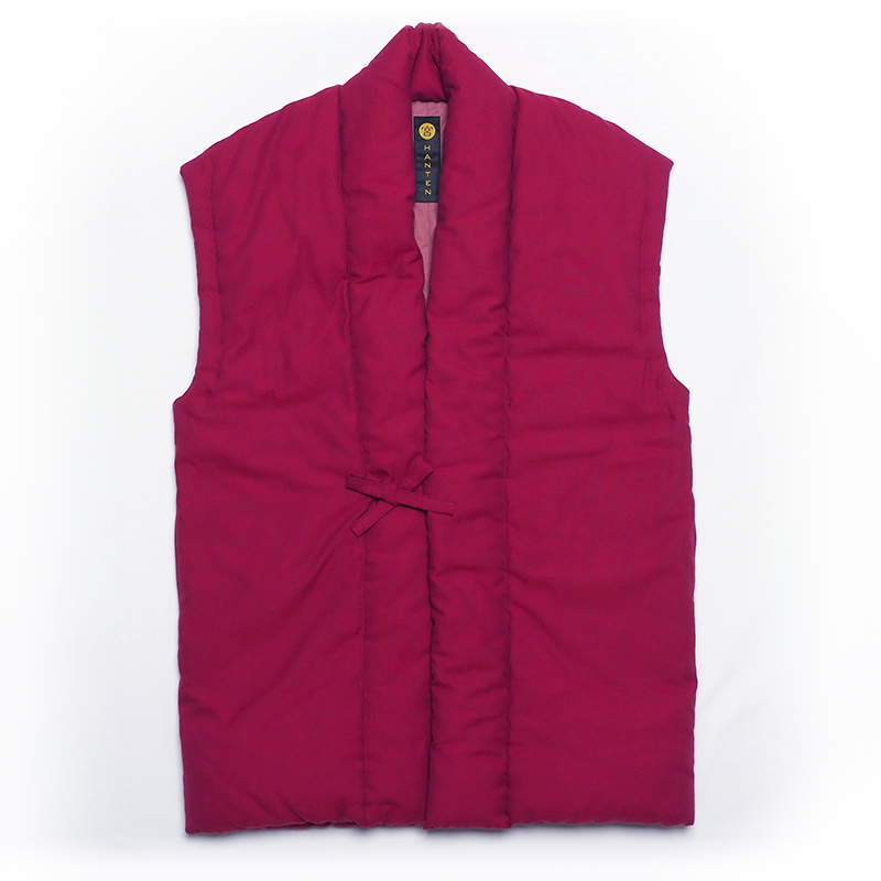 袖なし半纏 [山並みロングポンチョ] 全7色 ※赤完売
