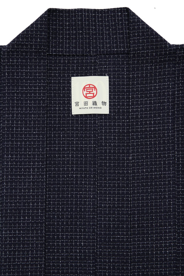 haori [bunjin] ネイビー 春夏秋向け 綿100%