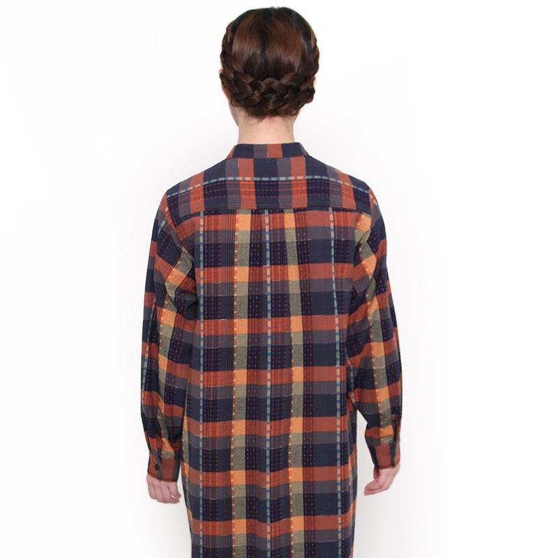 ブラウス [らしか oonisiki] ロング丈 全3色 綿100%